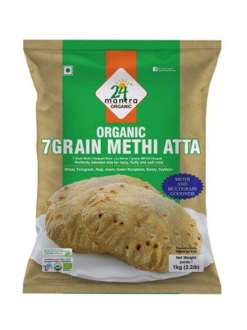 24 Mantra Organic 7 Grain Methi Atta, 1kg