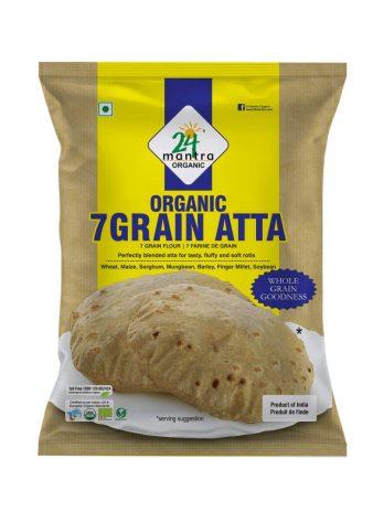 24 Mantra Organic 7 Grain Multigrain Atta 1Kg