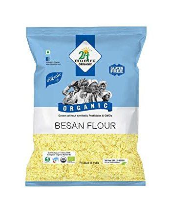 24 Mantra Organic Besan flour (Gram flour) 500 grams