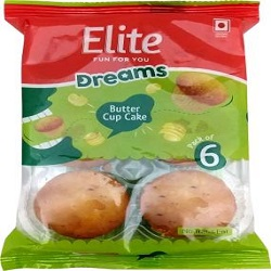 Elite Butter Cupcakes  (160 g, Pack of 6)