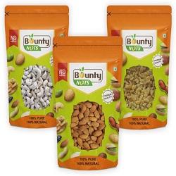 Bounty Nuts Combo Of Almonds,Cashews,Green Rains(200g)