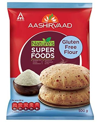 Aashirvaad Nature's Super Foods Gluten Free Flour Pouch, 500 g