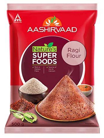 Aashirvaad Nature's Super Foods Ragi Flour Pouch, 500 g