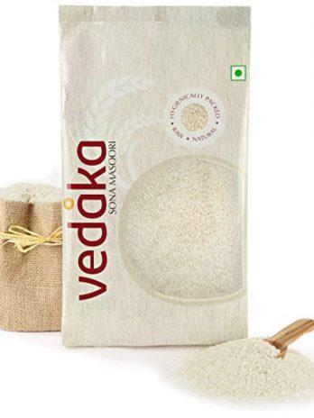 Vedaka Sona Masoori Raw Rice, 5Kg, White