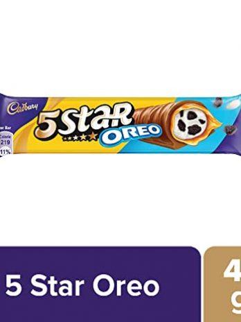 Cadbury 5 Star Oreo Chocolate Bar, Caramel, 42 Gram 35/-
