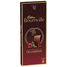Cadbury Bournville Cranberry Dark Chocolate Bar, 80g (Pack of 5) 400/-