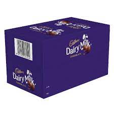 Cadbury Dairy Milk Chocolate Bar, 6.6g (Pack of 72) 330/-