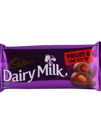 Cadbury Dairy Milk Chocolate Bar – Fruit and Nut, 38 g 75/-