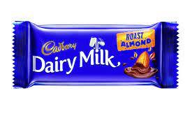 Cadbury Dairy Milk Roast Almond Chocolate Bar, 38 g 45/-