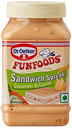 DR. OETKER FUN FOODS  SPREAD CHEESE CUCUMBER & CARROT