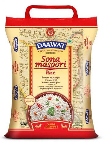 Daawat Premium Sona Masuri Rice, 10kg