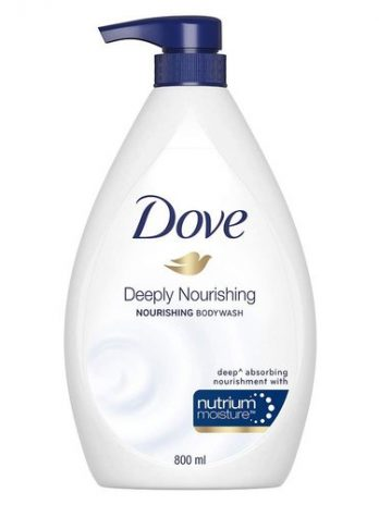 Dove Deeply Nourishing Body Wash, With Exfoliating Beads For Softer, Smoother Skin, 800 ml