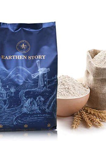 Earthen Story MP Sharbati Whole Wheat Atta or Flour, 5kg?