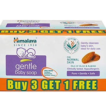 Himalaya Gentle Baby Soap Value Pack, 4 75g 129/-