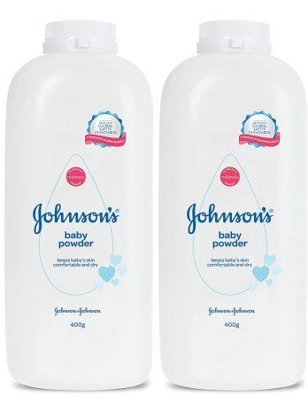 Johnson's Baby Powder For New Born Combo Offer Pack, 2 x 400g 378/-
