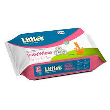 Little's Soft Cleansing Baby Wipes with Aloe Vera, Jojoba Oil and Vitamin E (80 wipes)234/-