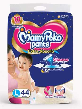 MAMY POKO PANTS extra absorb Diapers-Large (44 Pieces)
