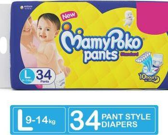 MAMY POKO Standard Diaper PANTS Large 34piece