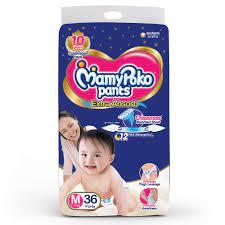 MAMY POKO  Standard Diaper PANTS Medium 36piece