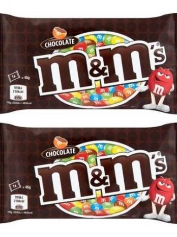 M&M'S Milk Chocolate Candy in Sugar Shell,( 45 Grams*Pack of 2) 90/-