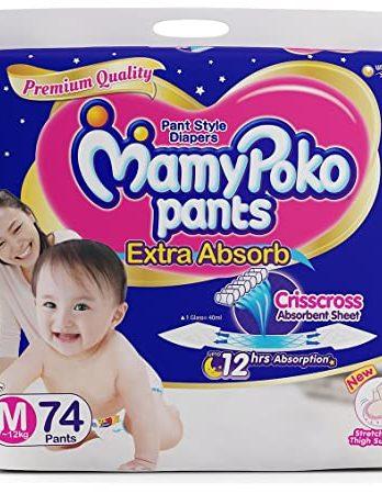 MamyPoko Extra Absorb Diaper Pants – 74 Pieces (Medium)