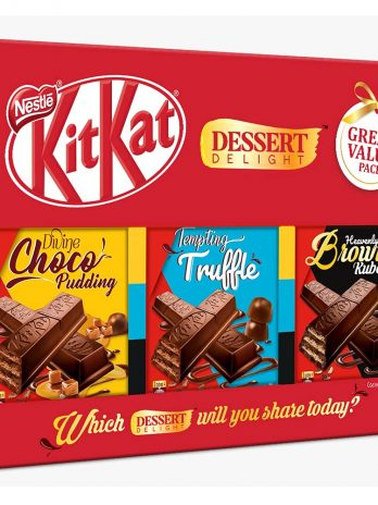 Nestle Kitkat Dessert Delight Wafer – Coated with Chocolate, 150g (Pack of 3) 150/-