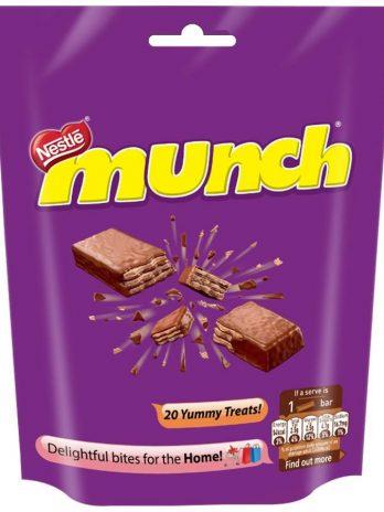 Nestle Munch Chocolate Bar, 202g Pouch 100/-