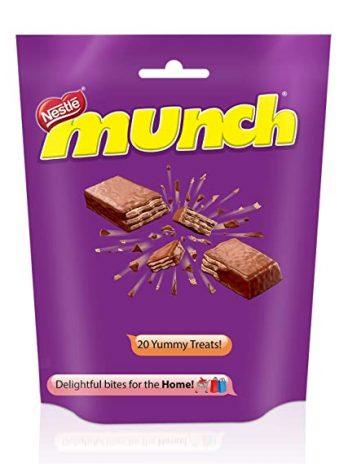 Nestle Munch Chocolate Coated Crunchy Wafer, Share, 222 g 100/-