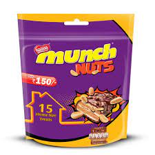 Nestle Munch Nuts Chocolate Coated Crunchy Wafer, 264 g 150/-