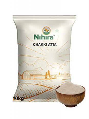 Nihira Whole Wheat Chakki Atta, 10 kg (South)