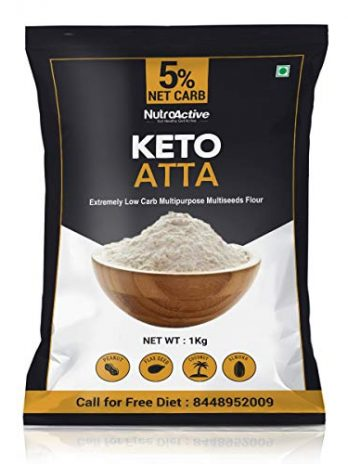 NutroActive Keto Atta (1g Net Carb Per Roti ) Extremely Low Carb Flour – 1kg