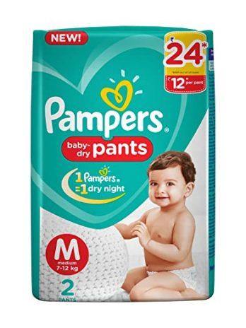 PAMPER Medium Diaper Pants 2pcs