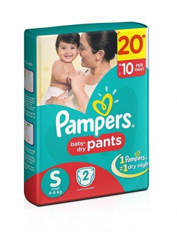 PAMPER NEW BORN Diaper Pant 2pcs