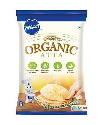 Pillsbury Organic Atta | High Fibre|  Source of Protein | 100% Organic Wheat | Maida 5kg