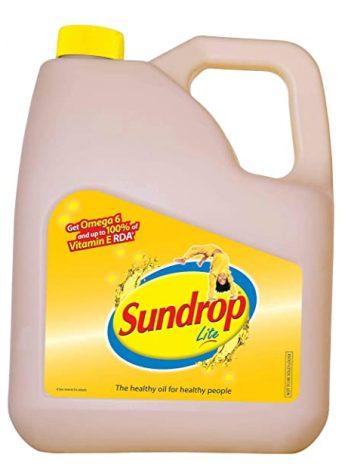 SUNDROP LITE REFINED SUNFLOWER OIL 5LTR CAN