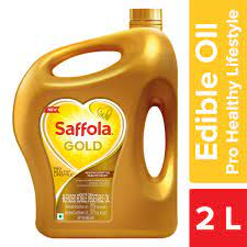 Saffola Gold Pro Healthy Lifestyle Blended Oil Can 2LTR