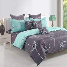 Blue bed cover