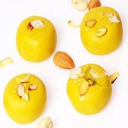 Gifts Indian Sweets – Sugar Free Sweets – Mawa Peda (Kesar)(200 GMS)