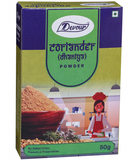 Coriander box-50g front