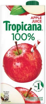 Tropicana 100% Apple Juice (1 L) – Bisarga Online Supermarket India