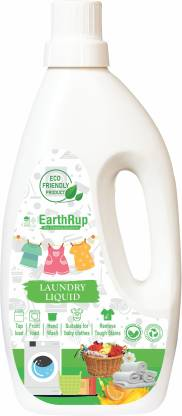 EarthRup Laundry Liquid Detergent | Plant Based Natural And Non Toxic | Eco-Freindly | Tough On Stain | Used As Front And Top Load Washing Machine | With Zero Color And Artificial Brighteners | Also Used As Baby Laundry Liquid Detergent Comfort Pack Of 1 Liter Multi-Fragrance Liquid Detergent