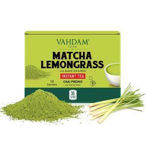 Matcha lemongrass instant tea premix-low calorie,healthy&Delicious