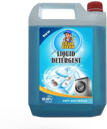 ScubClean 5 LTR Washing Machine Liquid Detergent Laundry Front Load/Top Load/Bucket Wash Multi-Fragrance Liquid Detergent (5 L) – Bisarga Online Supermarket India