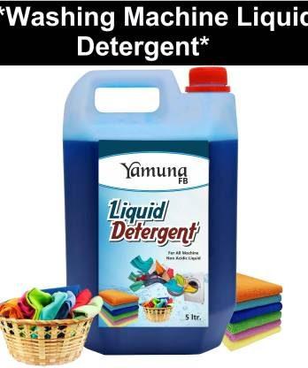 yamuna fb 5 LTR washing machine Liquid Detergent Laundry Front Load/Top Load/Bucket Wash (5 liter) Multi-Fragrance Liquid Detergent (5 L) – Bisarga Online Supermarket Delhi