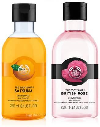THE BODY SHOP British Rose Shower Gel 250ml & Satsuma Shower Gel 250ml Combo (2 x 250 ml)