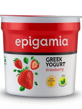 Epigamia Greek Yogurt, Strawberry, 90g – Bisarga Online Supermarket India