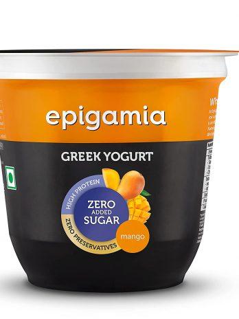 Epigamia Greek Yogurt – No Added Sugar – Alphonso Mango, 120 g – Bisarga Online Supermarket India