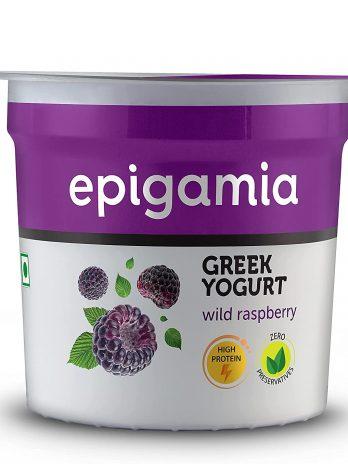 Epigamia Greek Yogurt, Wild Raspberry, 90g – Bisarga Online Supermarket India