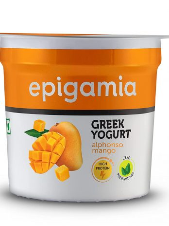 Epigamia Greek Yogurt, Alphonso Mango, 90g – Bisarga Online Supermarket India