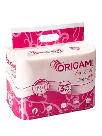 Origami Tissue Roll – 3 Ply, 6×100 g Pack of 6 – Bisarga Online Supermarket India